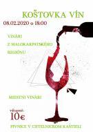 Ochutnávka vín február